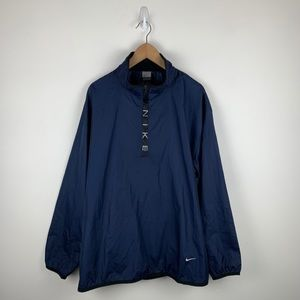 Nike 1/4 zip pullover blue windbreaker